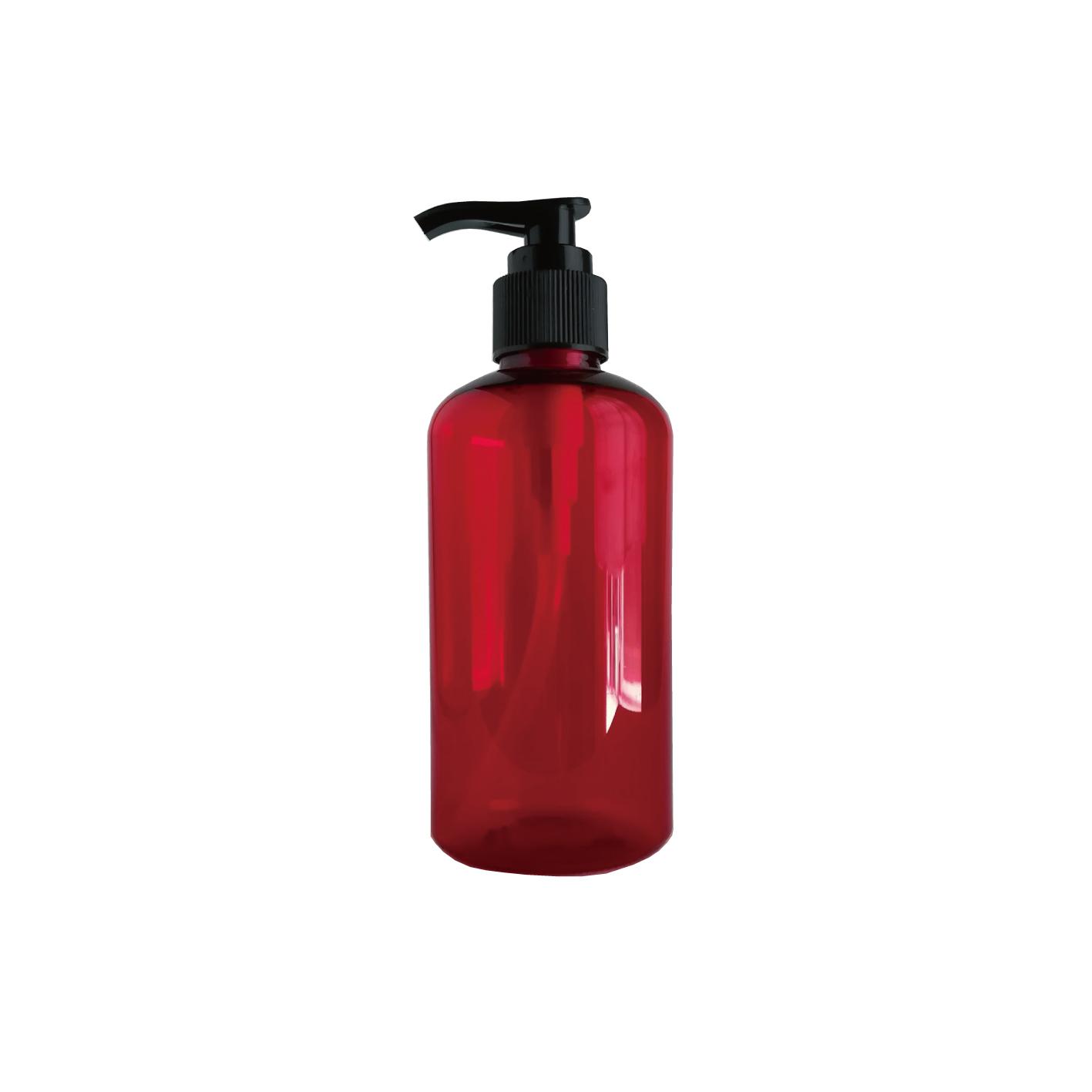 200ml ポンプ付き遮光ボトル(赤)
