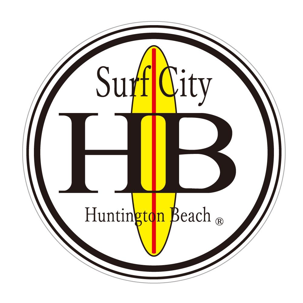"214 Huntington Beach ""California Market Center"" アメリカンステッカー スーツケース シール"