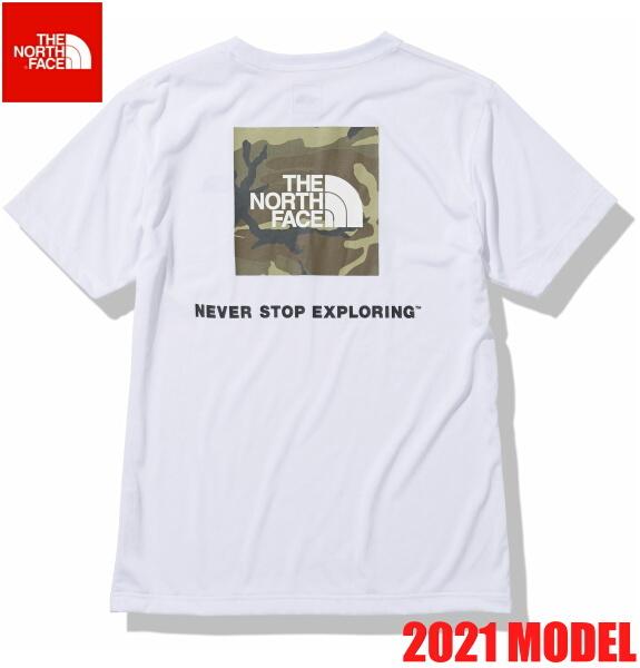 ノースフェイス 半袖 Tシャツ メンズ THE NORTH FACE ショートスリーブスクエアカモフラージュティー 2021年モデル NT32158 ホワイト