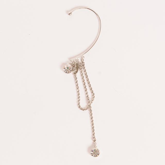 hs19AW-JR06 BIJOU CHAIN EAR CUFF (silver)