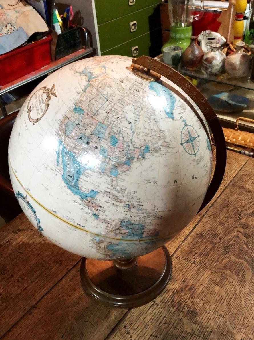 アメリカ製 地球儀