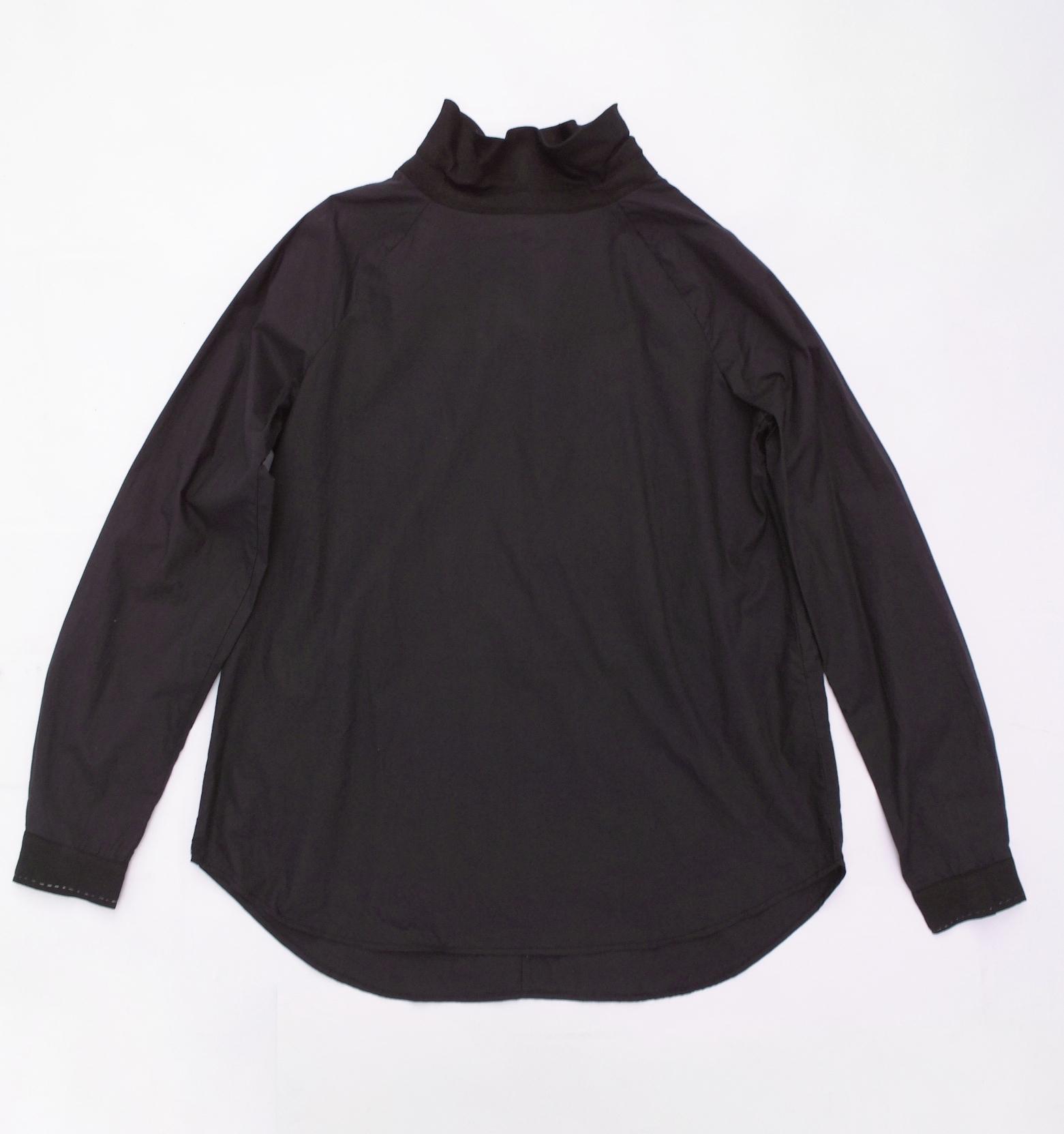 High neck gather blouse