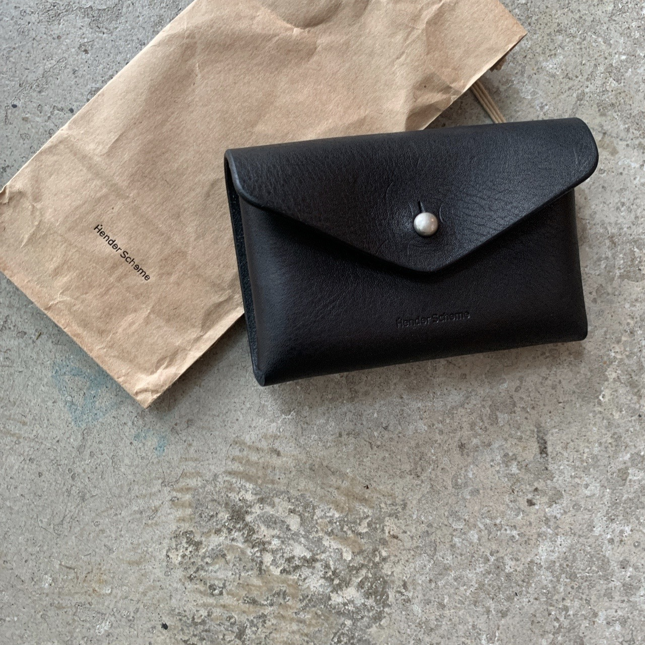 Hender Scheme - one piece card case black