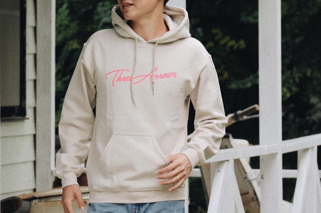 (Fin11月号掲載)ThreeArrows パーカー(beige × pink)