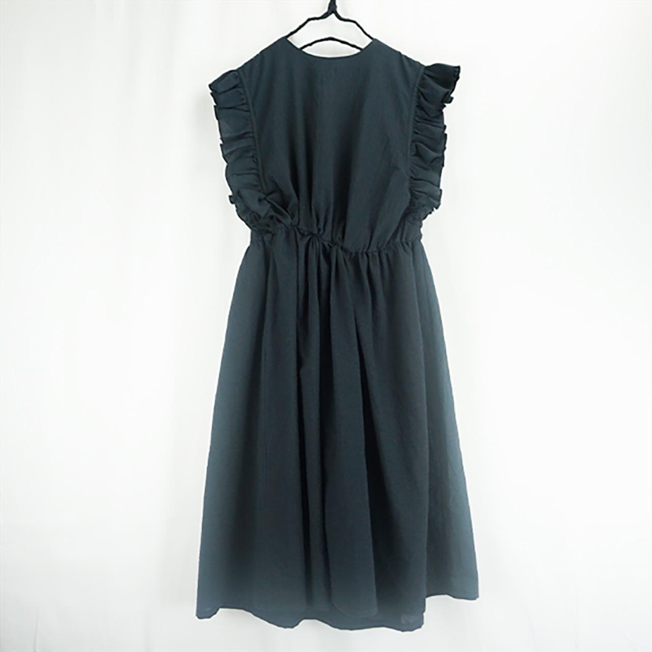 BACK SHAN FRILL DRESS DYED / WOMEN