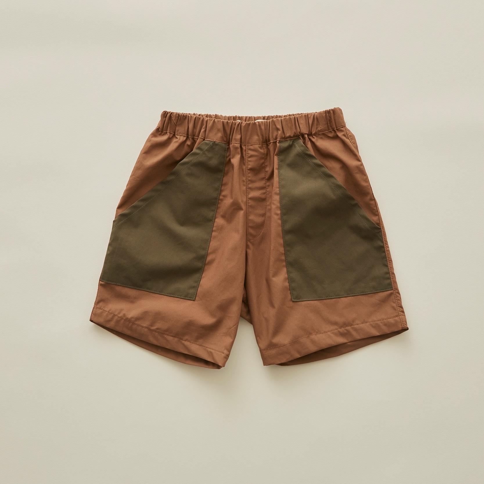 《eLfinFolk 2020SS》typwriter shorts / cocoa / 140・150cm