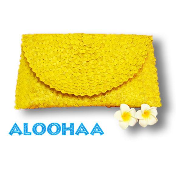 ラウハラ クラッチバッグ(4色展開) ハワイアン雑貨 リゾートウエア・リゾート雑貨