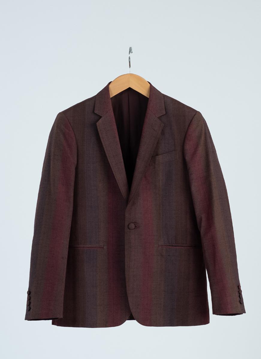 結城紬 ジャケット 着物 正絹製