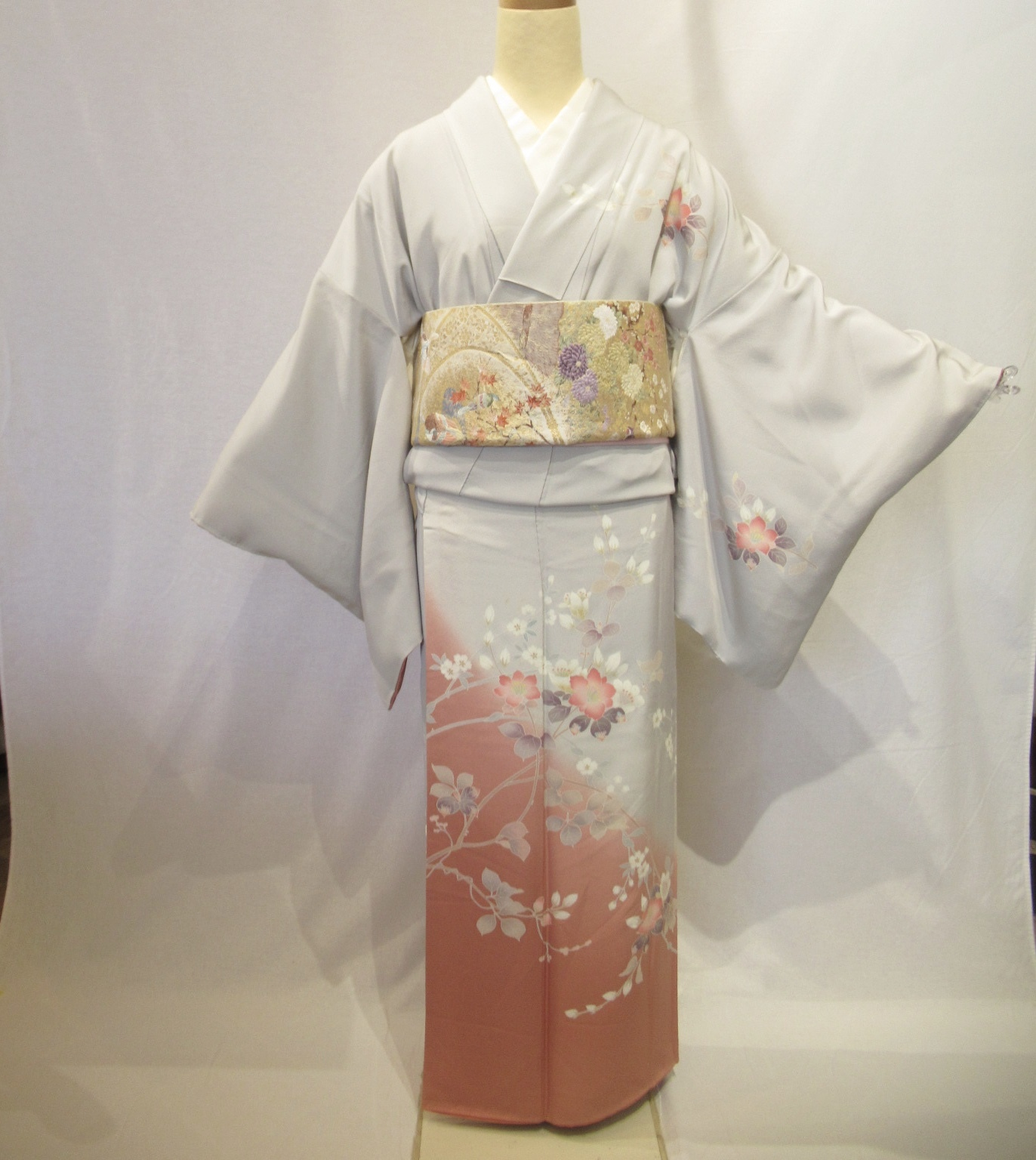 1957高身長加賀友禅訪問着と西陣織袋帯セット