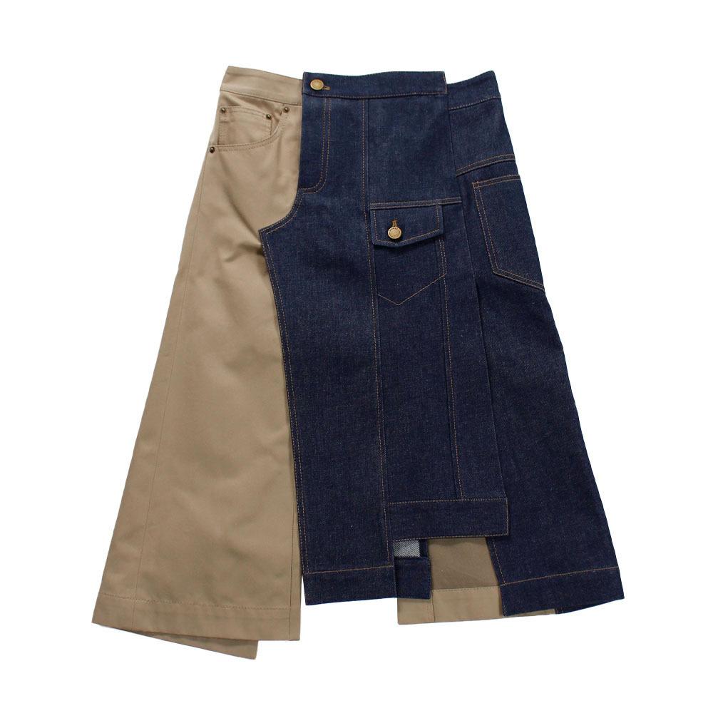 MONSE Indigo Denim Skirt