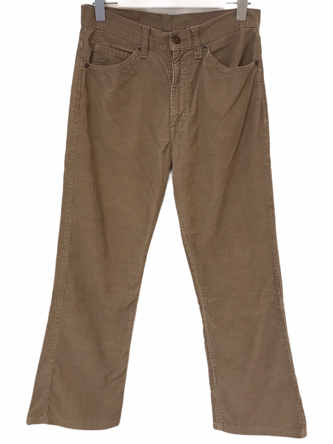 80's Levis 517 Corduroy pants Beige 42talon made in USA W30