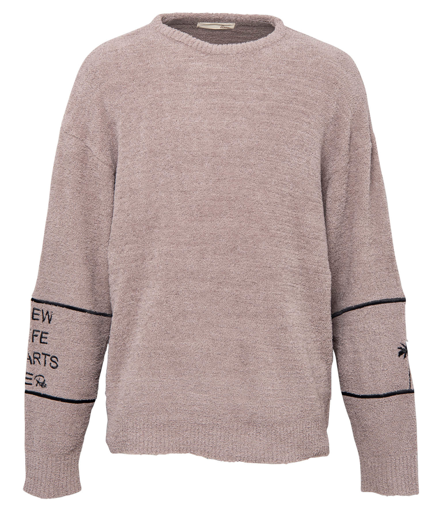 ARM EMBROIDERY CREW NECK MALL KNIT[REK050]