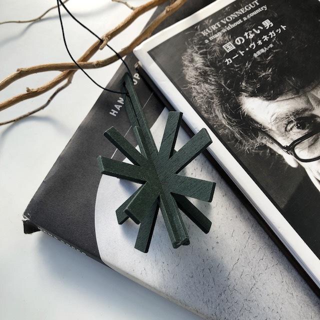 Christmas ornament -wooden ジョイントオーナメント・snowflake(GN)-