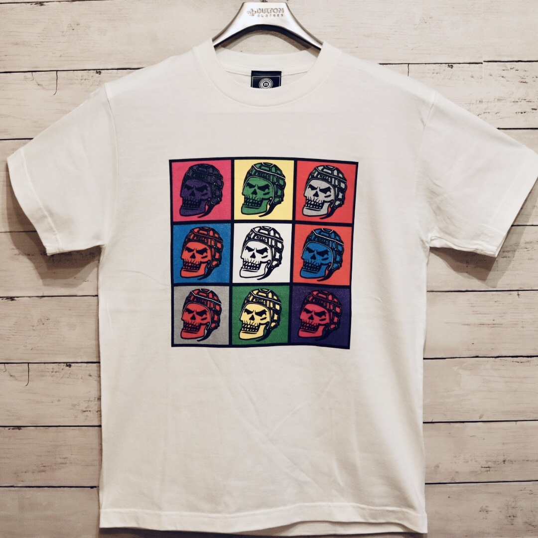 【YBC】RUGBY SKULL COLORFUL T-shirts White