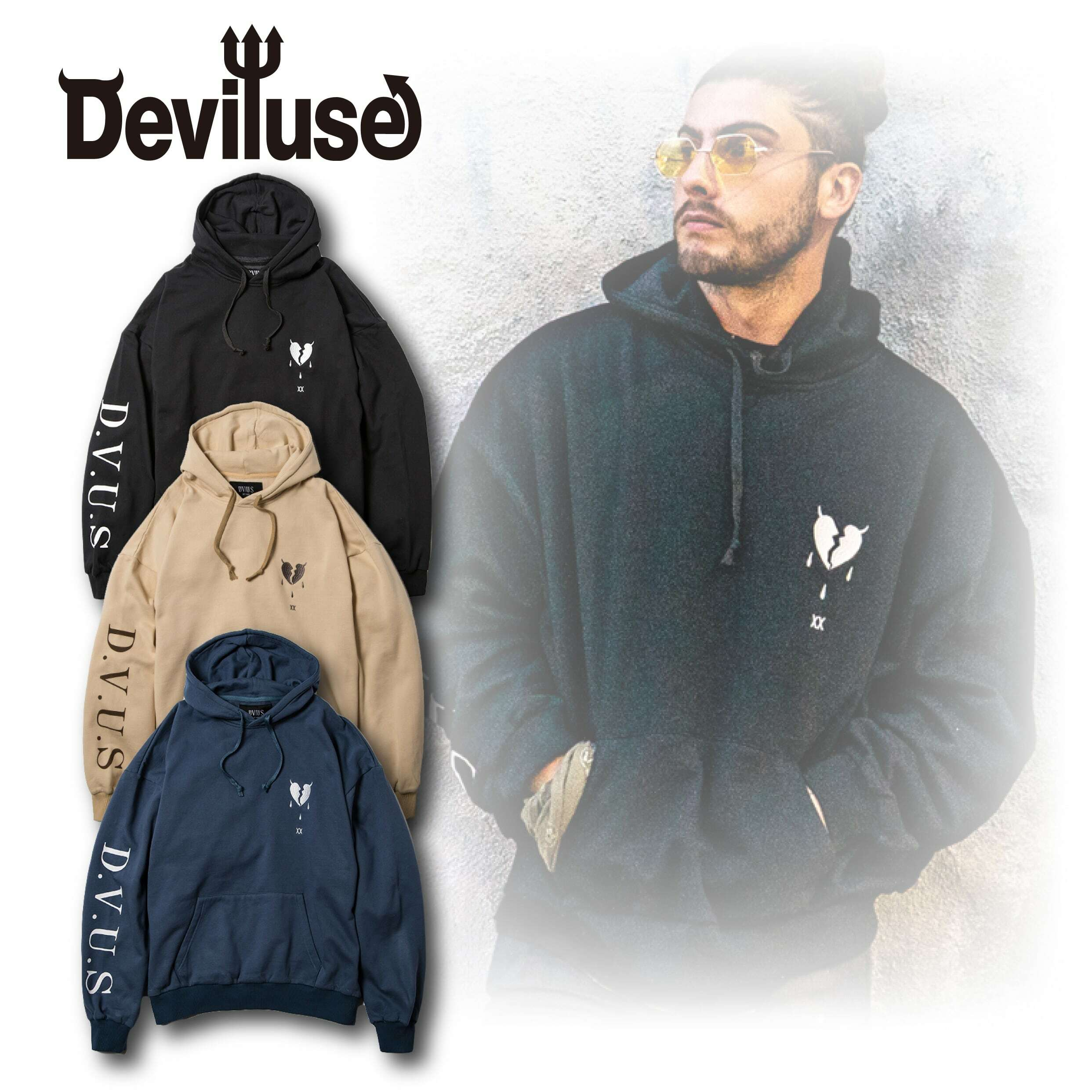 Deviluse(デビルユース) | Heartaches Pullover Hooded