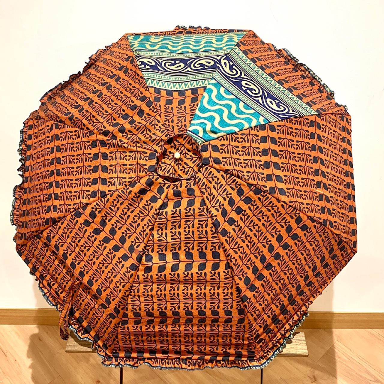 saripn-012 シルクサリー パラソルカバー 折畳傘本体・共布バッグ付き