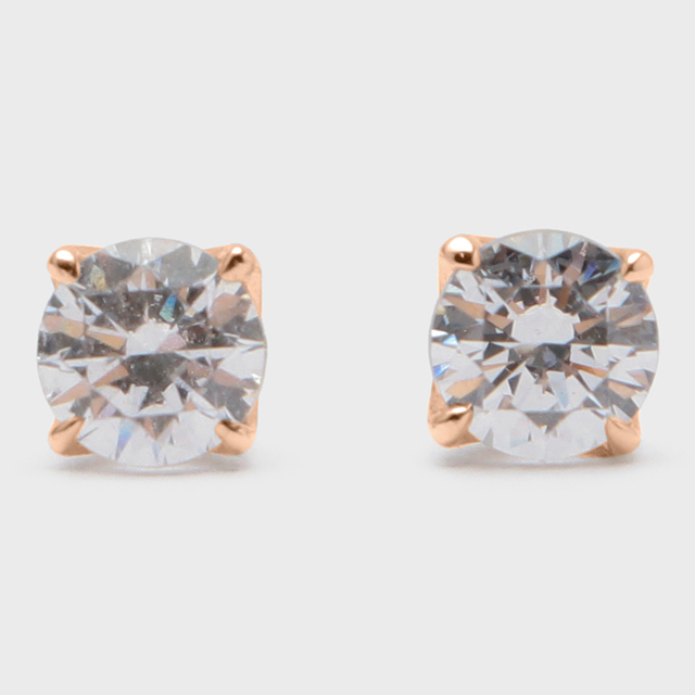 BIJOUPIKO Diamond Pierce  K18PG(ビジュピコ 4点留めダイヤモンドピアス 0.4ct K18ピンクゴールド)