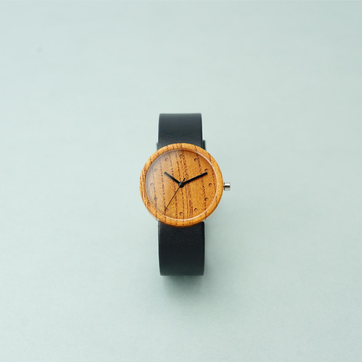 Zelkova wood - Black - M