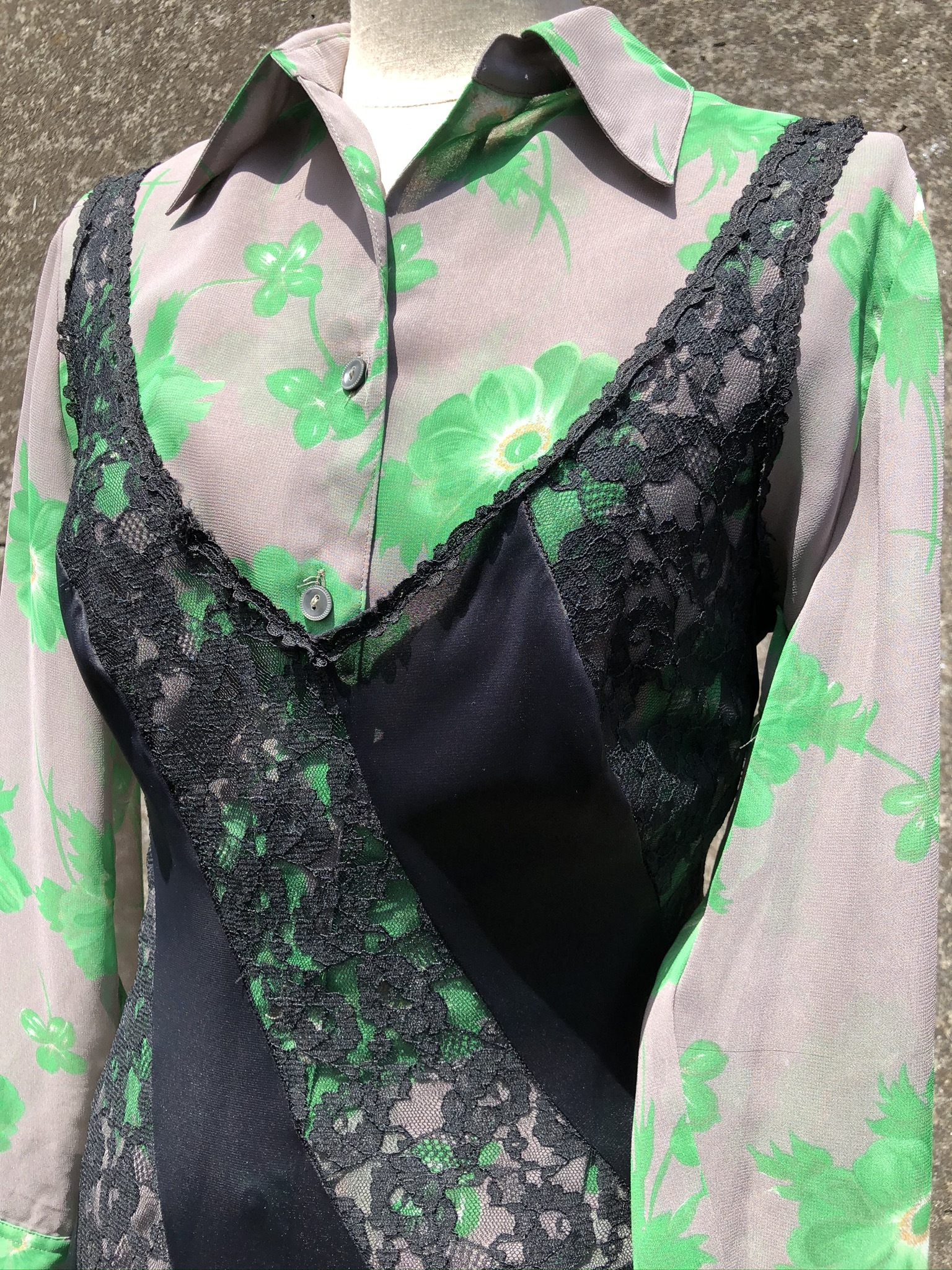 sheer long sleeve shirt