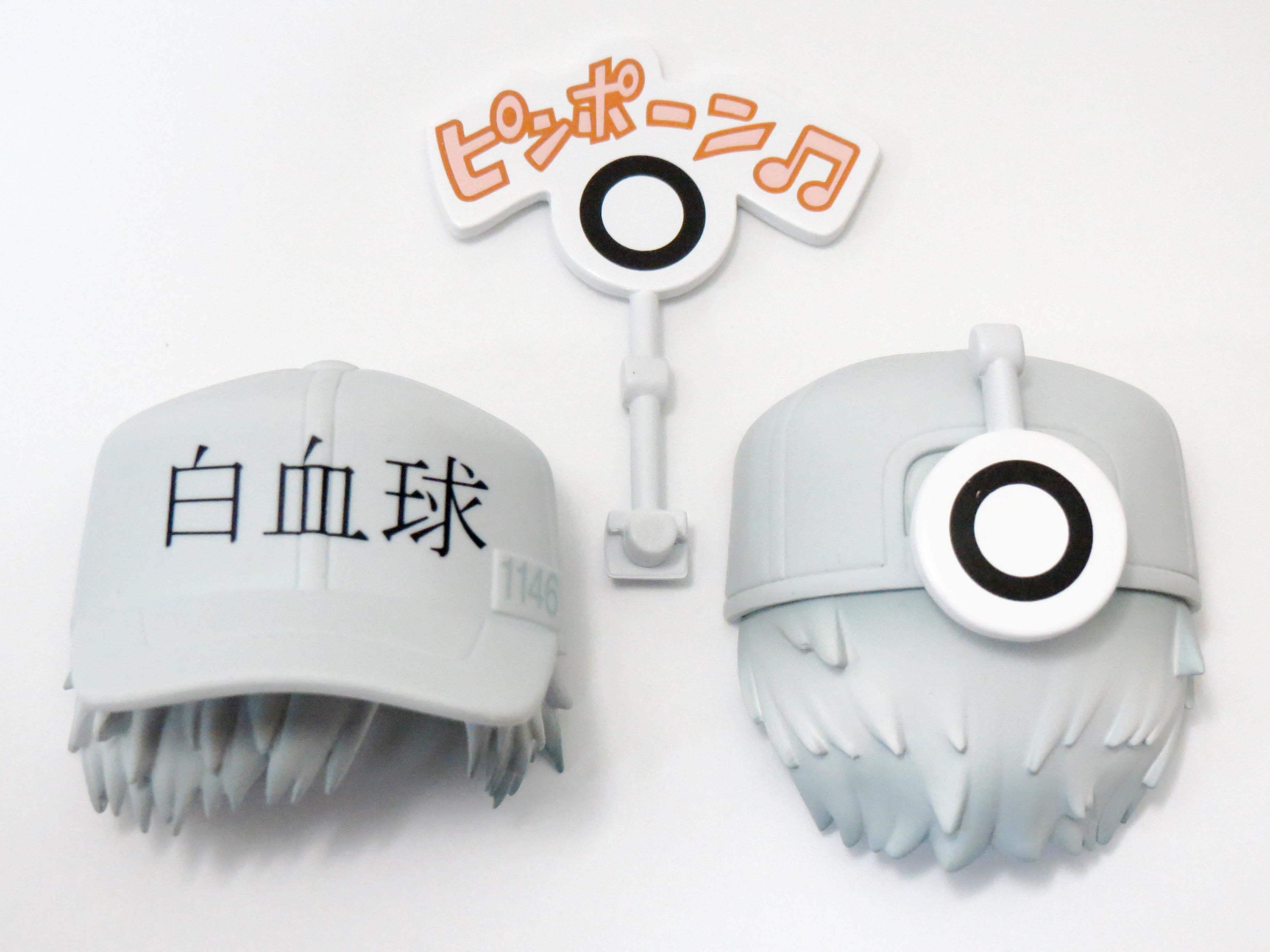 【979】 白血球(好中球) 髪パーツ 帽子付きショート ねんどろいど