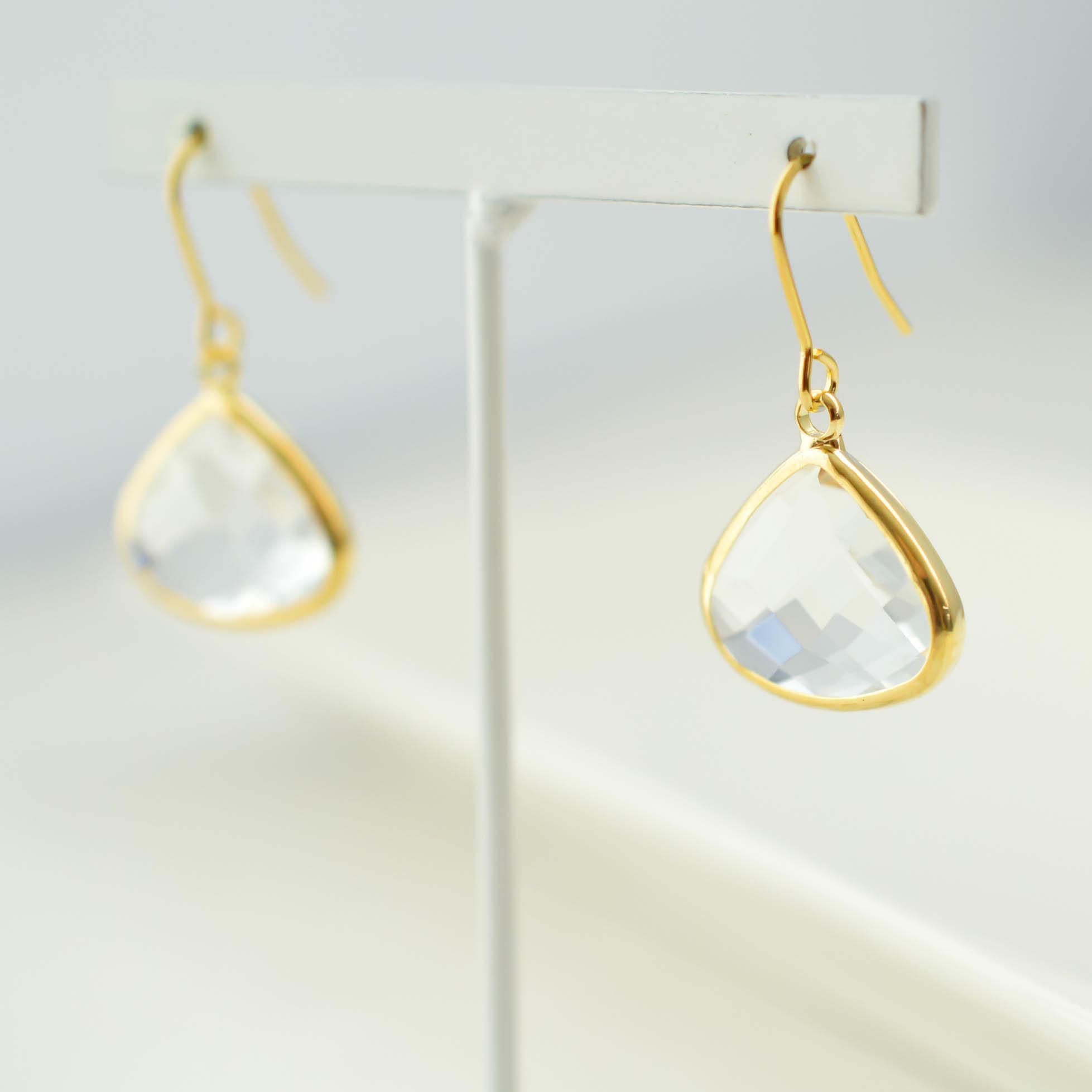 marroncutglass pierce/earring(clear)