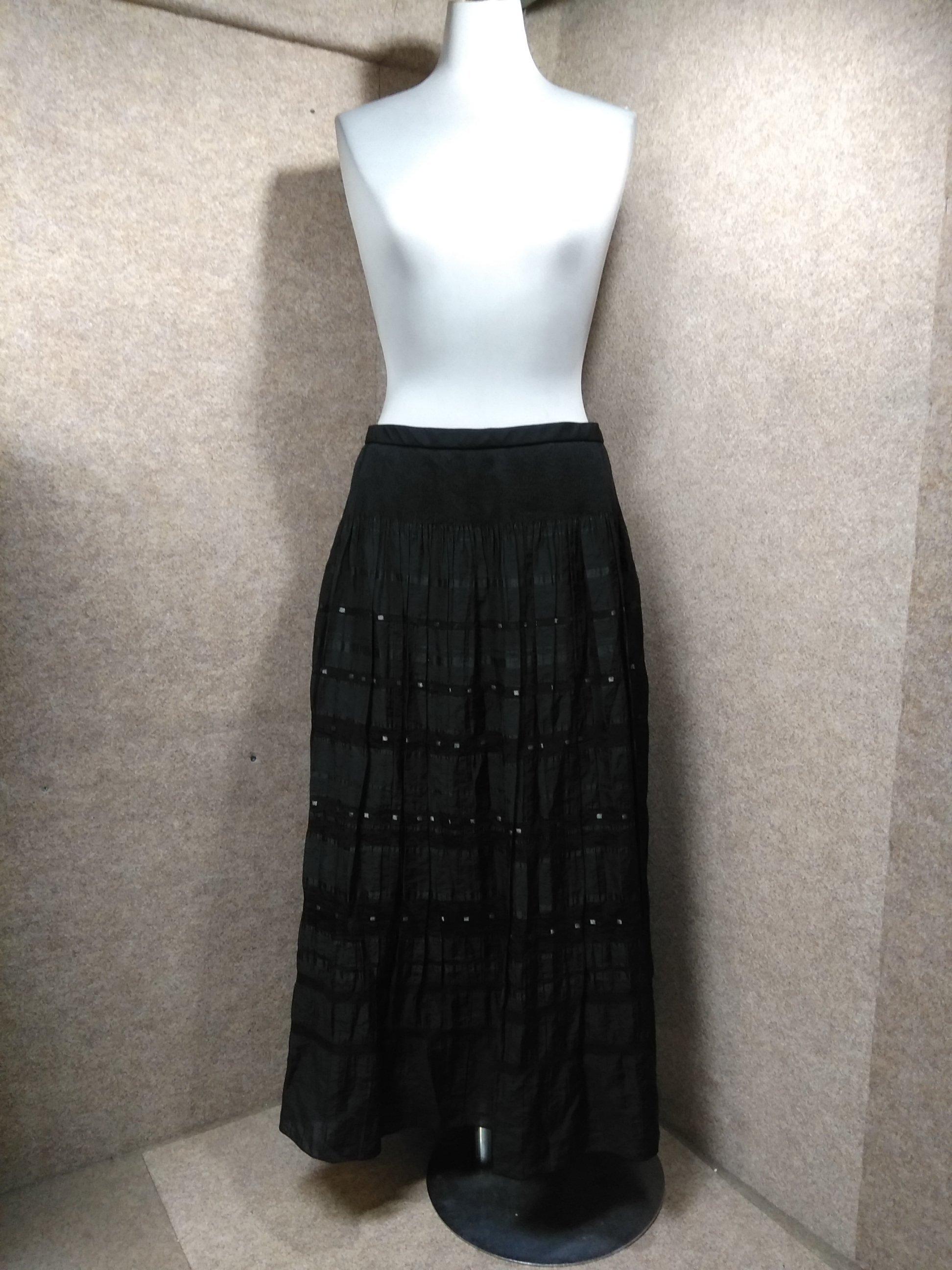 レリアン Leilian ロングスカート 13 ブラック系 y1461i