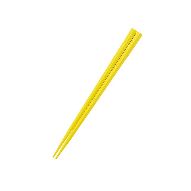 【OGH-5-YE】五角形15cmPBT箸  イエロー