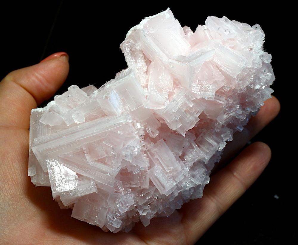 ピンクハーライト カリフォルニア産 273g 岩塩 PH034