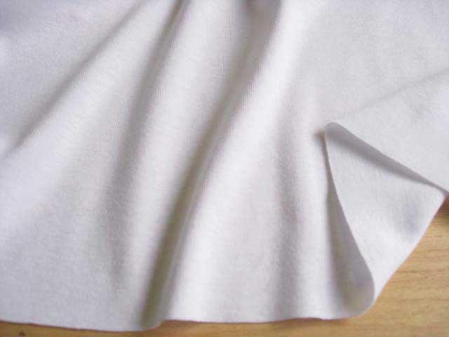 J&B定番 綿コーマ糸フライスニット スノーホワイト #01 NTM-1366C