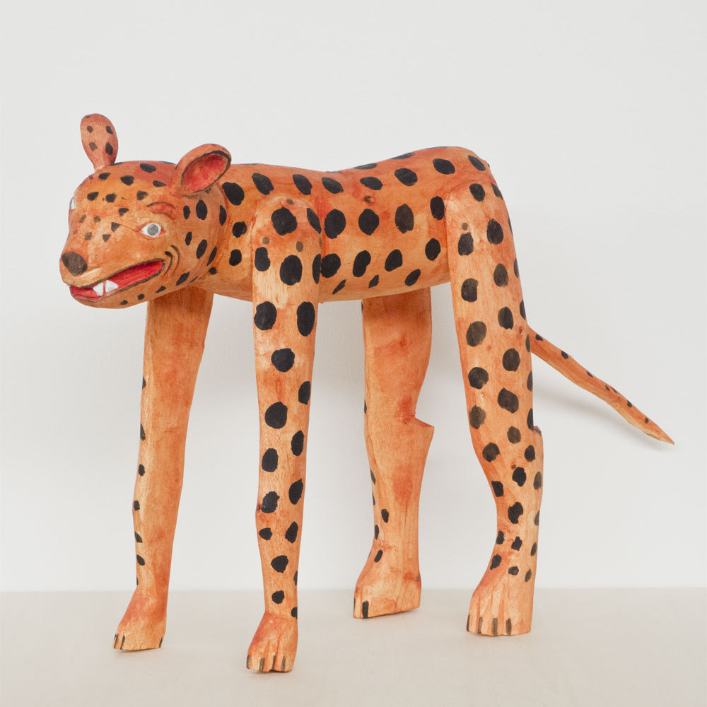 OAXACA Wood Carving Large Jaguar オアハカ ウッドカービング ジャガー