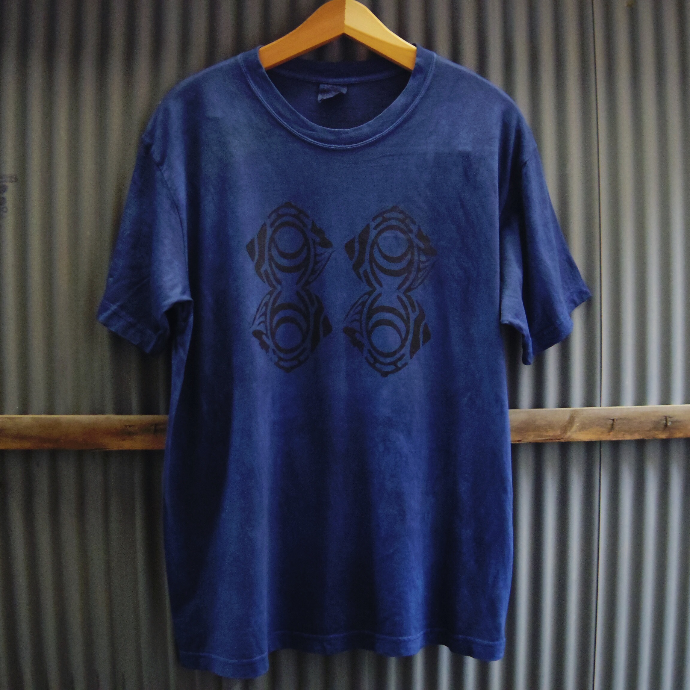 "TKHOME FACTORY ""ORIGINAL LOGO"" 後染め Organic Cotton T-shirt XL"
