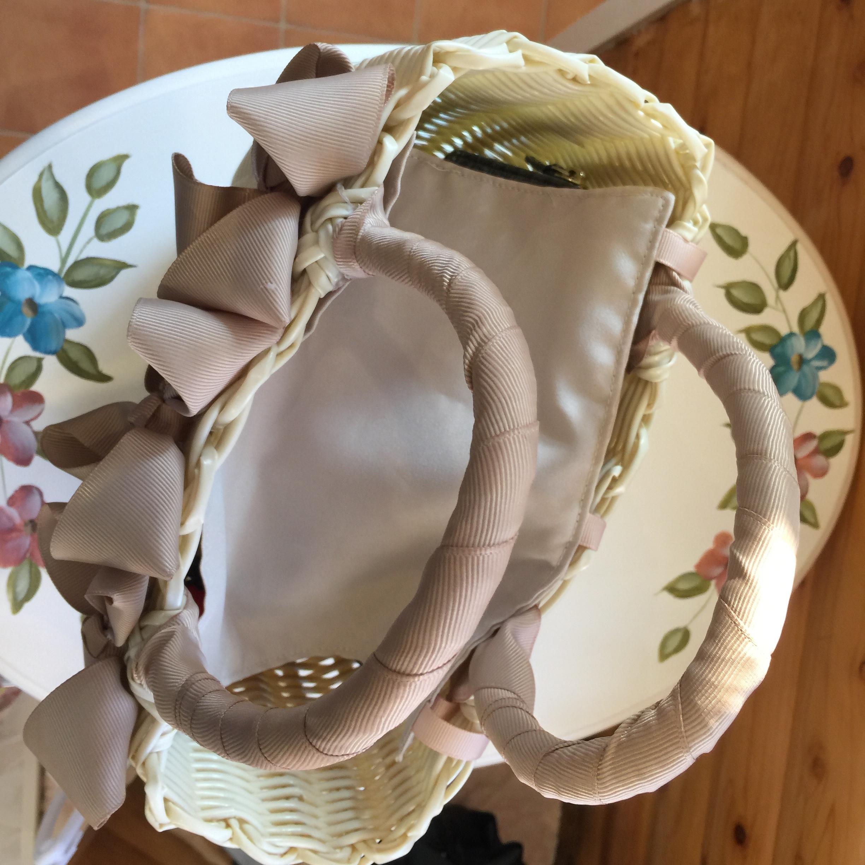 カゴバッグSサイズのフタ(布製のかぶせタイプ)カスタマイズメニュー