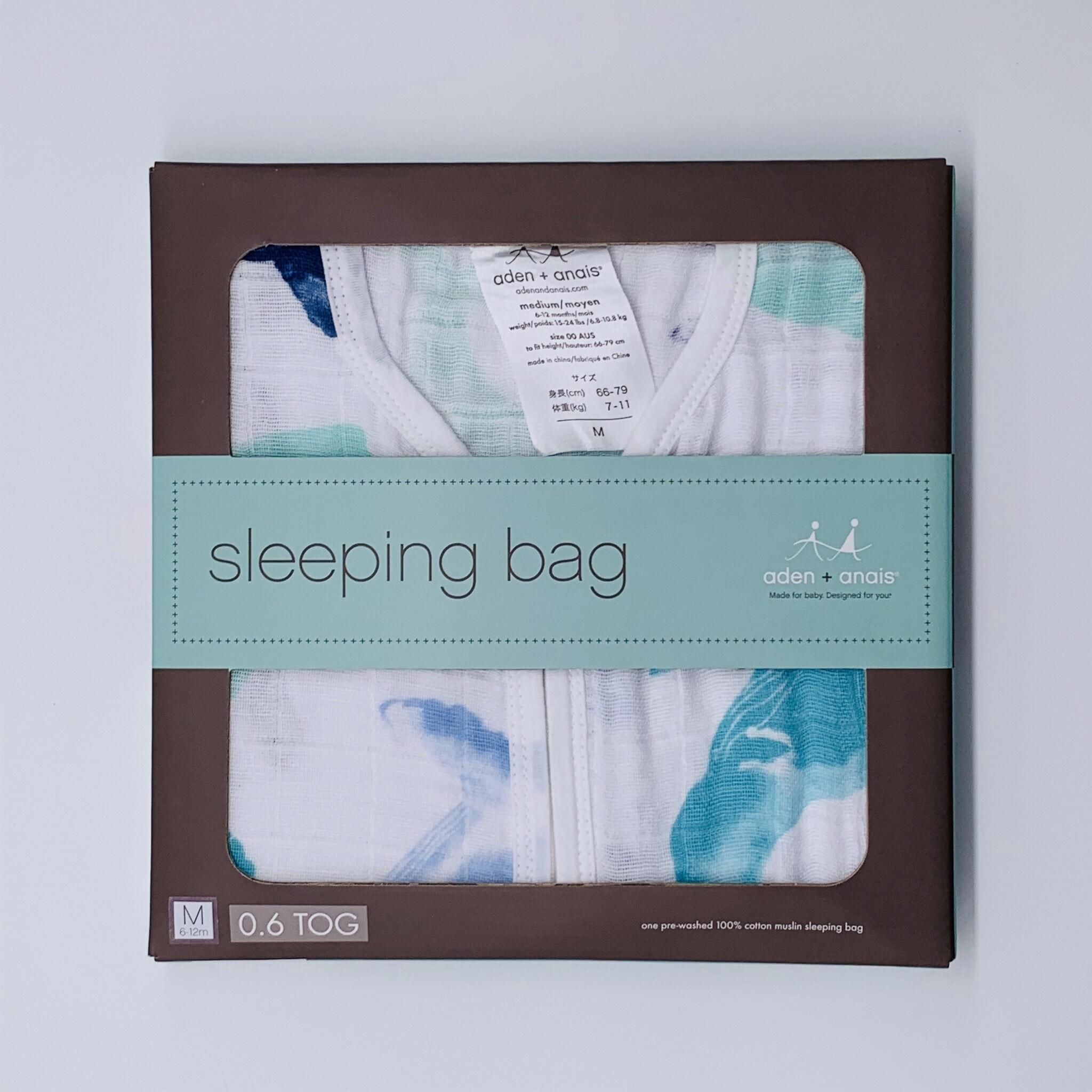 Aden&Anaisクラシックスリーピングバッグ/おやすみ中も安心!赤ちゃんの冷えを防ぎ、お顔に被さる心配なし★おむつ替えも簡単!