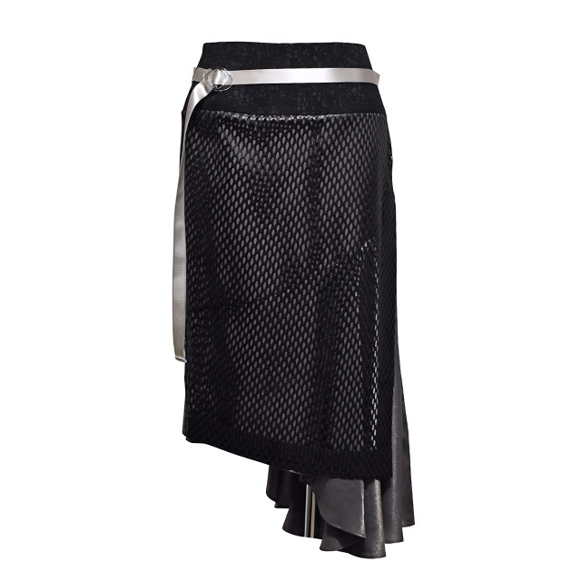 koll / big mesh skirt / Black