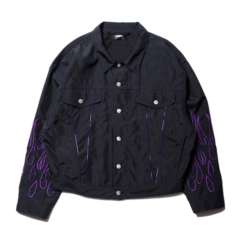 Fire nylon jacket / BLACK - 画像1