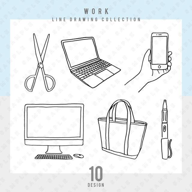 【シンプル】WORK 10点セット