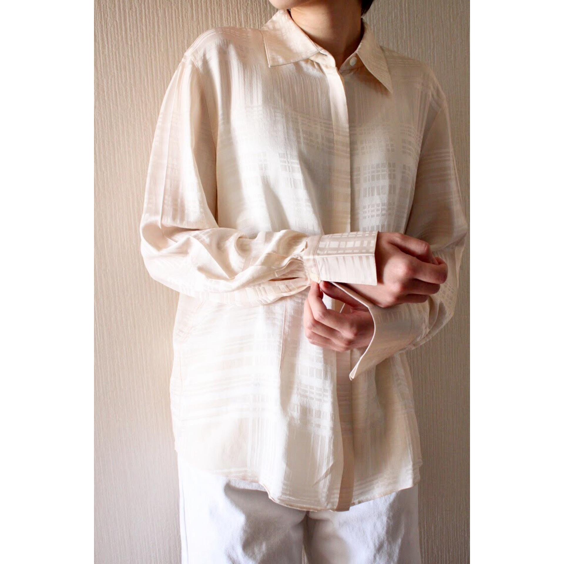 Vintage silk check shirt