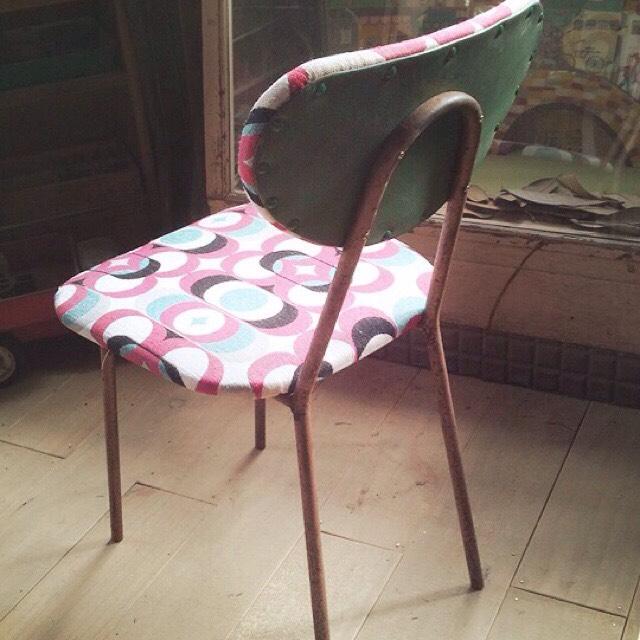 リメイク椅子 ピンク