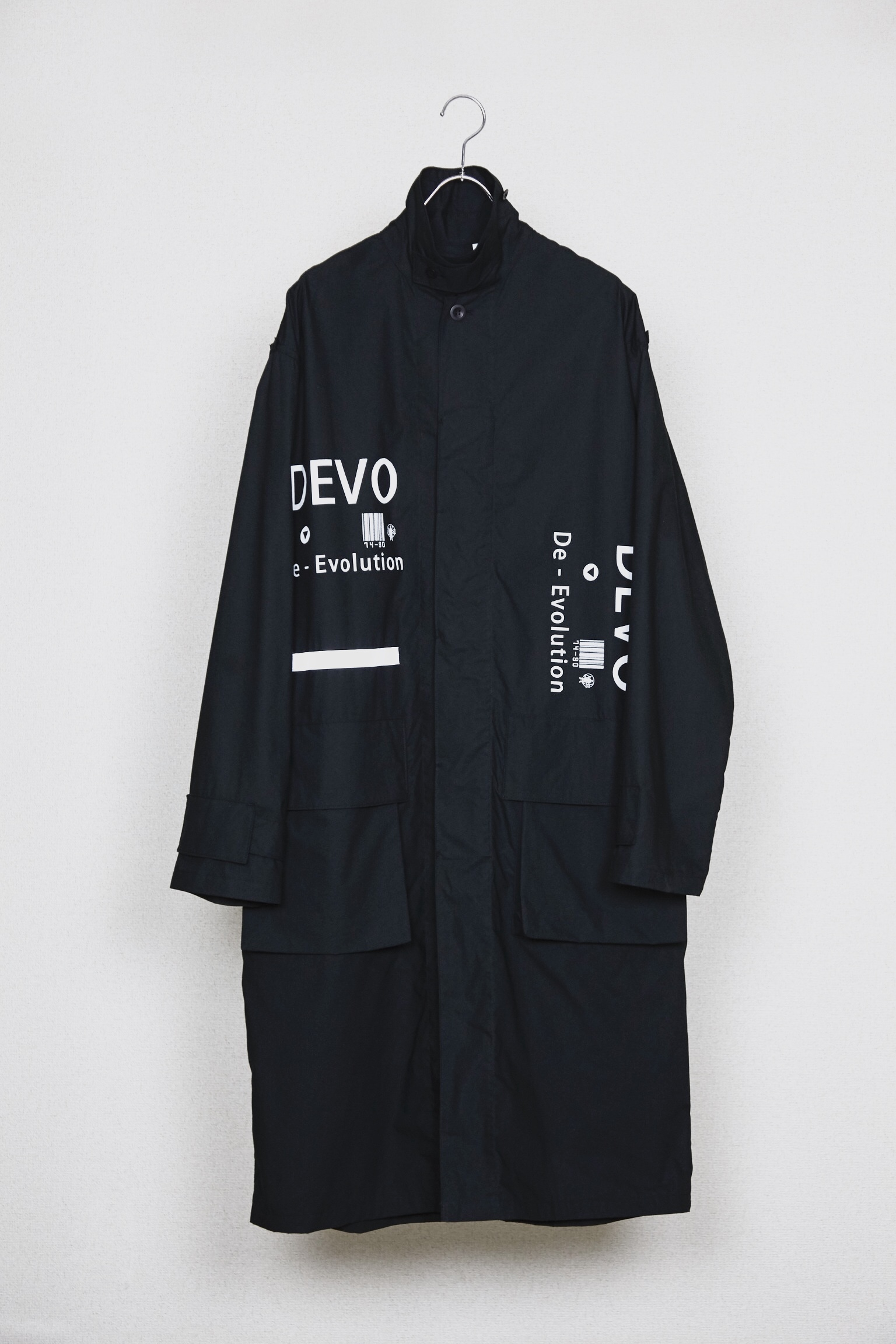 50%OFF【HUMIS】CHEMICAL FLY-FRONT OVER COAT