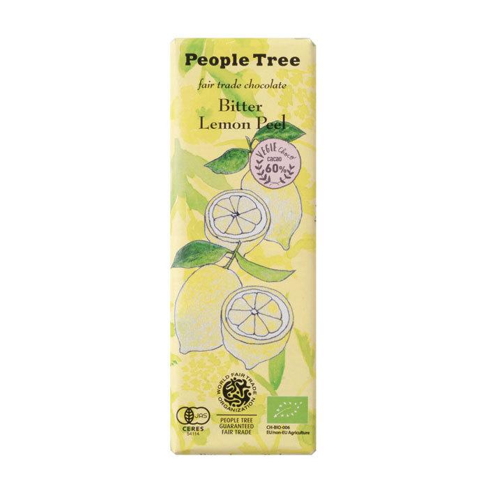 People Tree フェアトレードチョコ オーガニック ビター レモンピール ピープルツリー