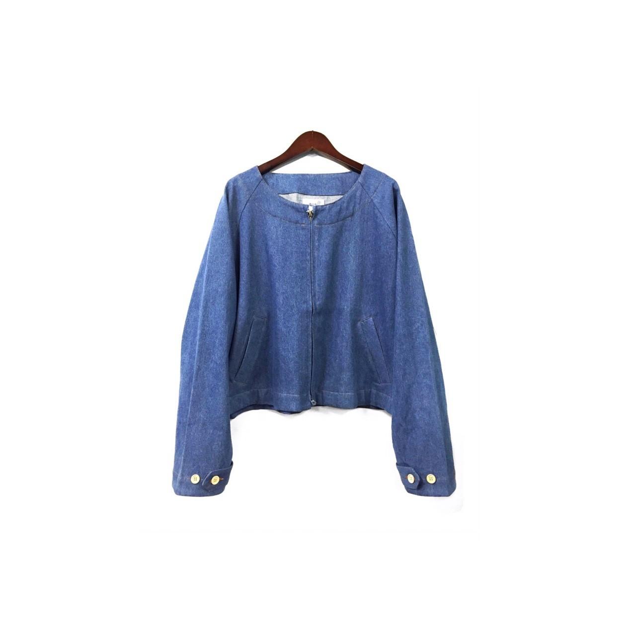 yotsuba - Nocollar Denim Jacket / Wash ¥23000+tax