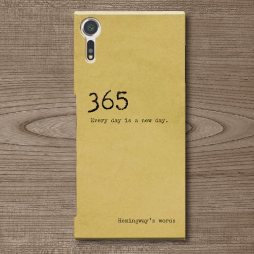 名言・格言/タイプライター文字/ヘミングウェイ/Everyday/古い手紙調/Androidスマホケース(ハードケース)