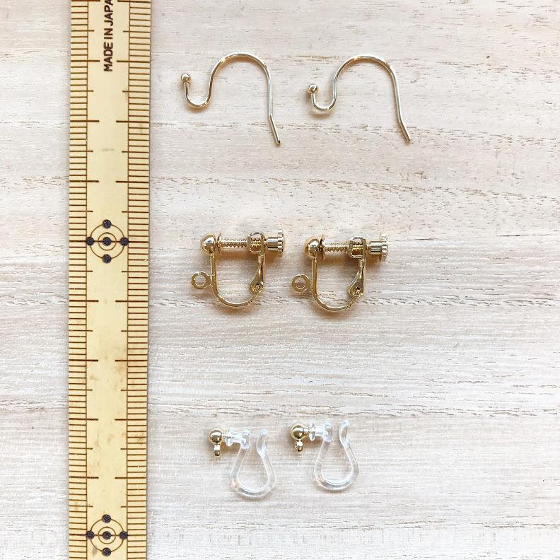 [京都の竹アクセサリー]差し六つ目たすき格子編み〈AKA〉イヤリング・ピアス