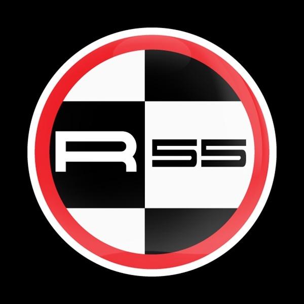 ゴーバッジ(ドーム)(CD0594 - MINI R55 RED) - 画像1