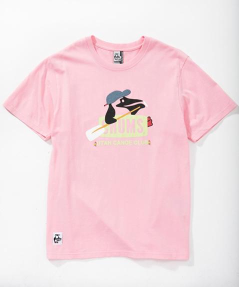 2018年春夏新作 CHUMS (チャムス) Booby Canoe Club T-Shirt (ブービーカヌークラブTシャツ) PINK (ピンク)