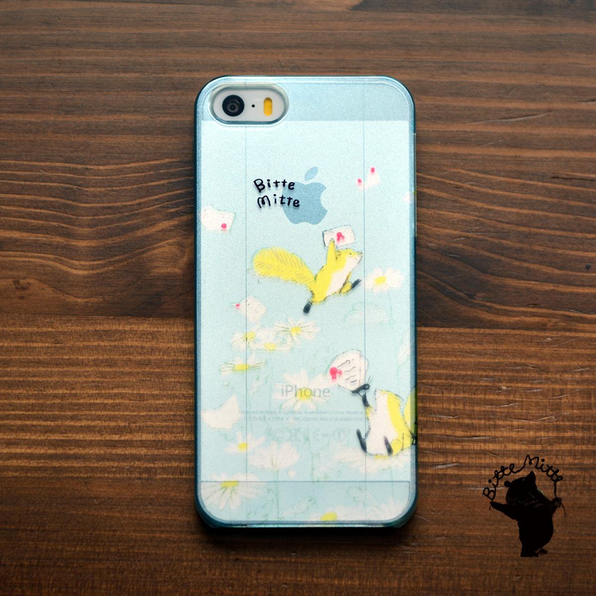 【BASE店限定】アイフォンse ケース クリア iPhoneSE クリアケース キラキラ かわいい りす リスと郵便/Bitte Mitte!