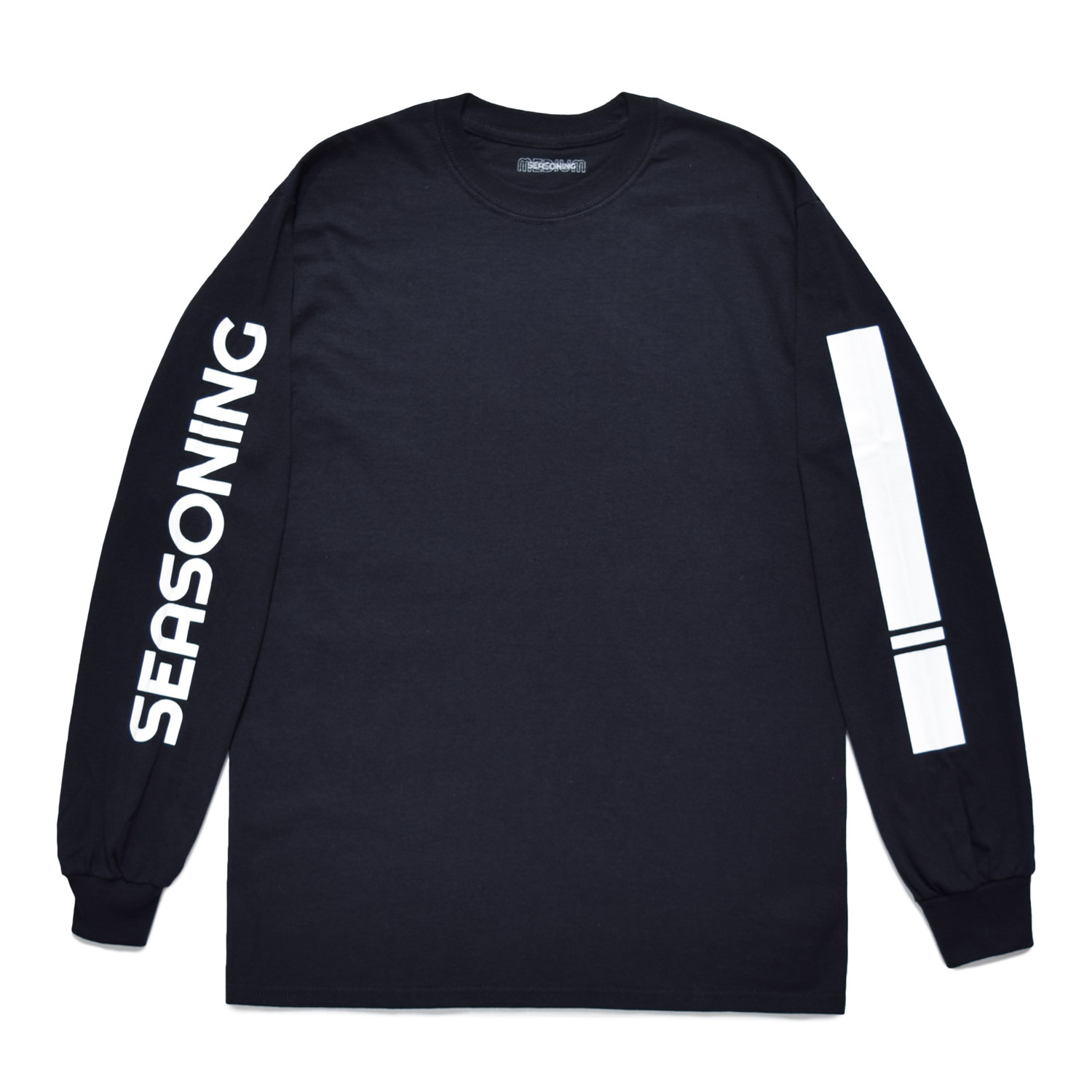 SEASONING LOGO L/S TEE  - BLACK