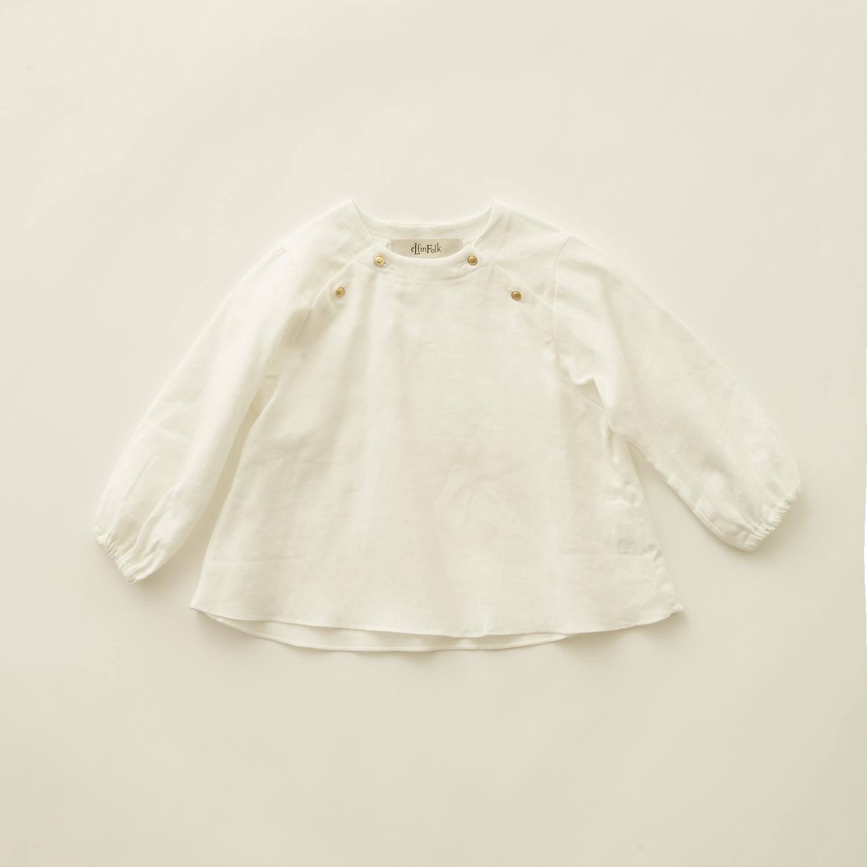 《eLfinFolk 2020AW》C/L washer  baby blouse / white / 80-100cm
