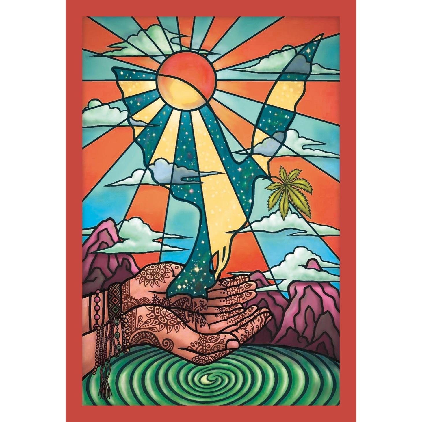 ポストカード『羽ばたく鳩』