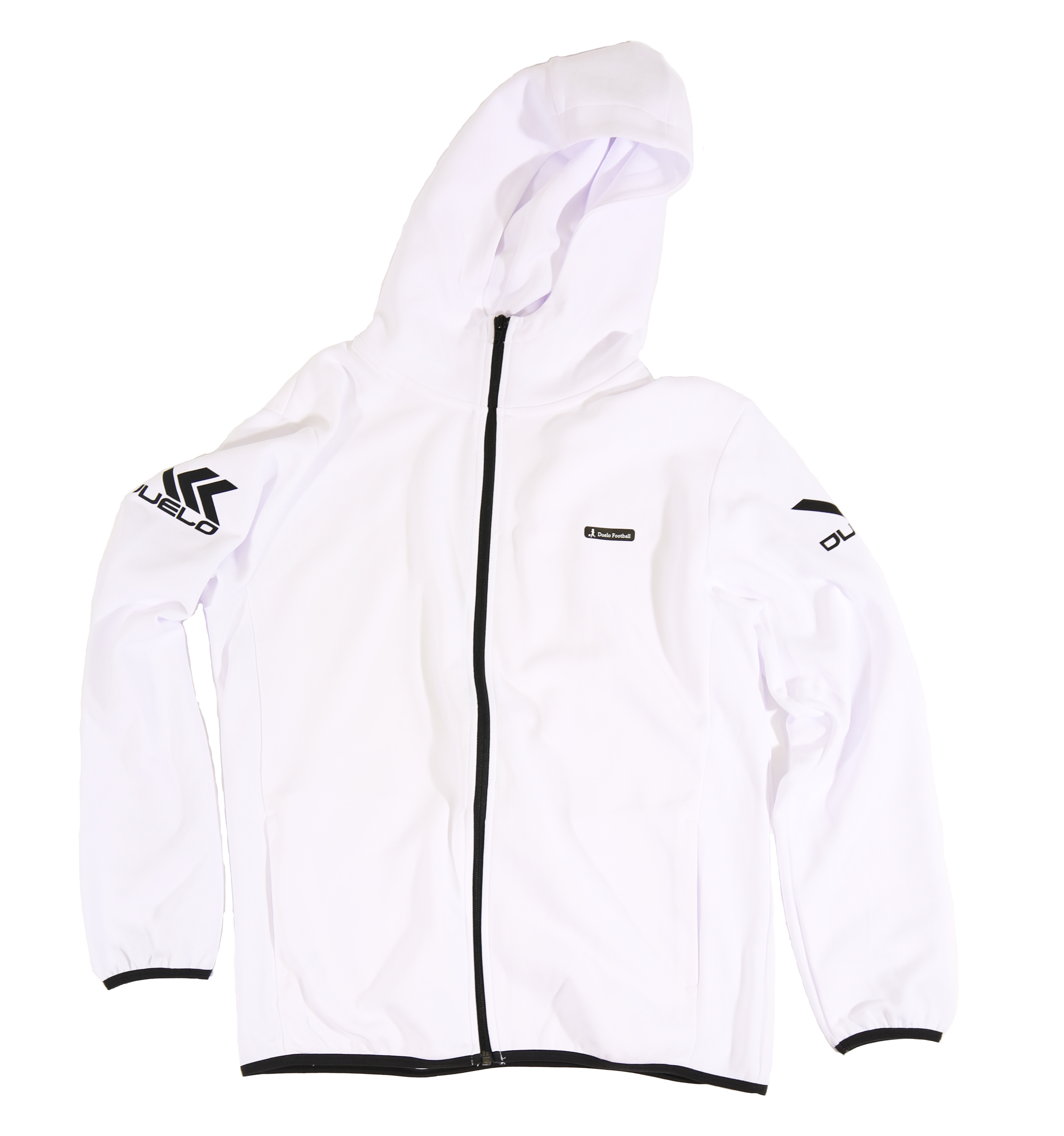 20010 Hood zip sweat top WHT